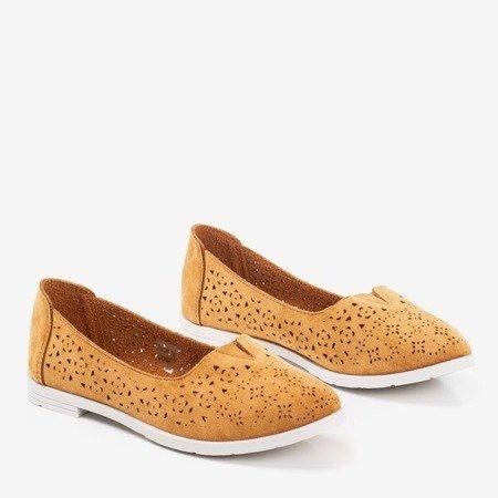 Коричневі ажурні мокасини Rewita - Взуття