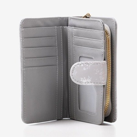 Маленький жіночий гаманець із малюнком сірого кольору - Гаманець