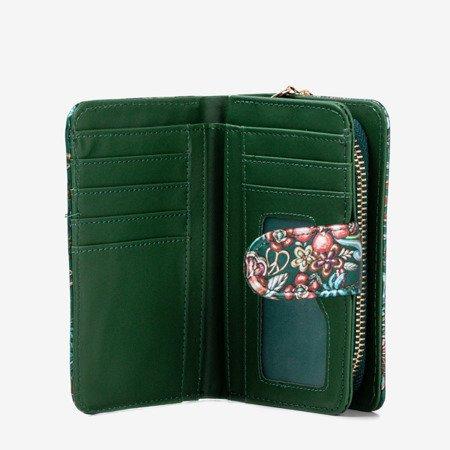 Малий жіночий гаманець із зеленим кольором - Гаманець 1