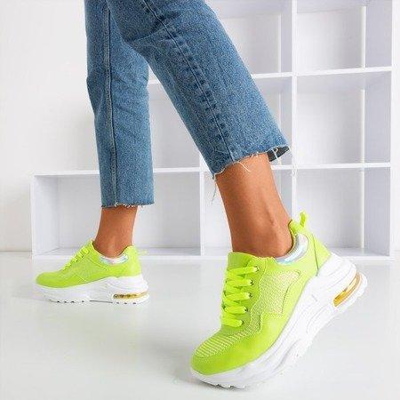 Неонові жовті спортивні кросівки з голографічними вставками з пігулок - Взуття 1