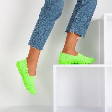 Неонові зелені жіночі кросівки в кольорових кольорах - Взуття 1