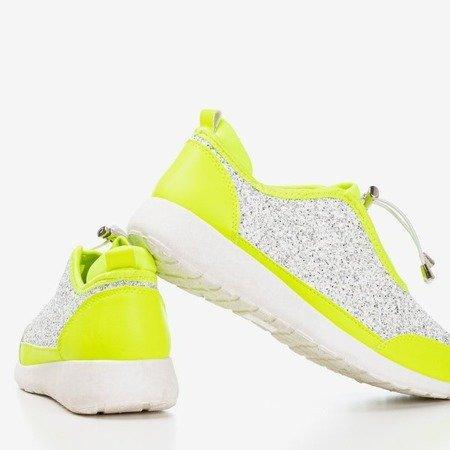 Неонові зелені спортивні туфлі з блиском Likera - Взуття 1