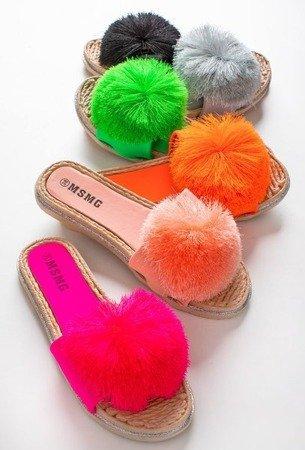 Неонові рожеві шльопанці з пензликом Talvika - Взуття 1