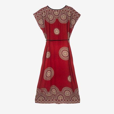 Плаття бордо в єгипетському стилі - Одяг 1
