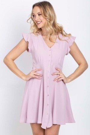 Плаття з світло-фіолетовим застебнутим платтям - Плаття 1