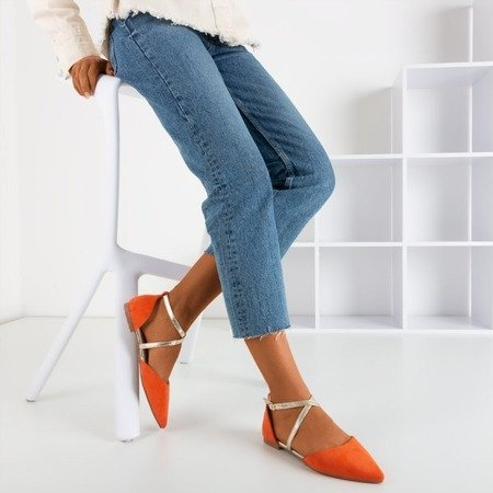 Помаранчеві жіночі плоскі балерини Vosia - Взуття