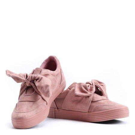 Рожеві спортивні кросівки, пов'язані стрічкою Clamiss - Взуття 1
