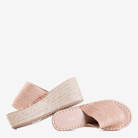 Світло-коричневі босоніжки на платформі Hlois - Взуття