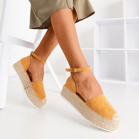 Світло-коричневі еспадриси жіночі на платформі Savanto - Взуття