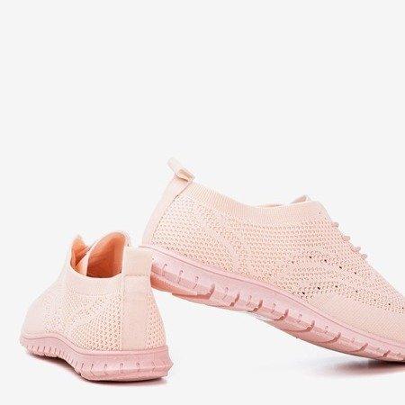 Світло-рожеві ажурні кросівки Palesonia - Взуття 1