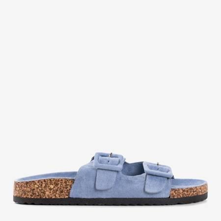 Сині жіночі шльопанці з пряжками Recasa - Взуття 1