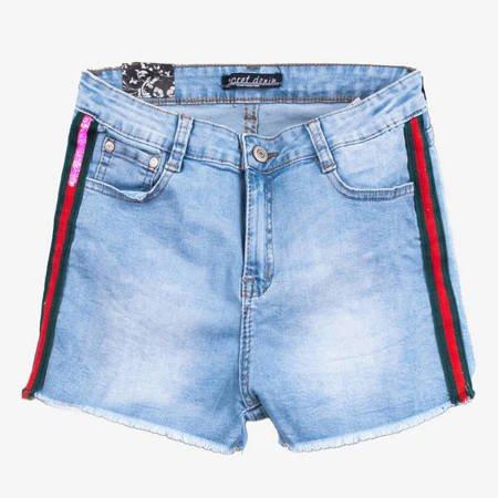 Сині шорти в смужку - Одяг
