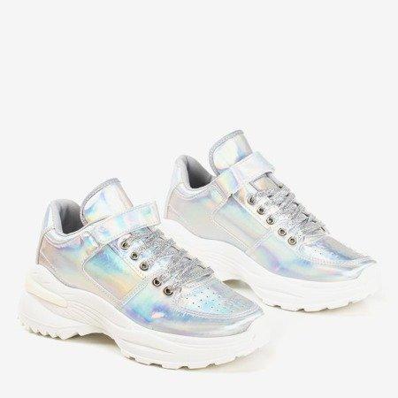 Срібні жіночі кросівки з голографічною обробкою That''s You - Взуття 1