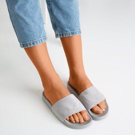 Сірі жіночі тапочки Nayail - Взуття 1