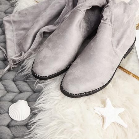 Сірі черевики з еко-замші Taramina - Взуття 1