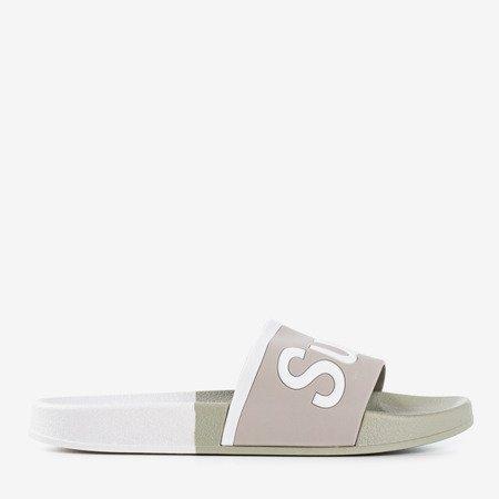 Сірі чоловічі тапочки зі словом Super - Взуття 1