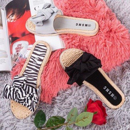 Тапочки з бантиком у вигляді зебри з малюнком Masmalla - Взуття 1