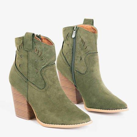 Темно-зелені ковбойські черевики ала на пост Бельє - Взуття