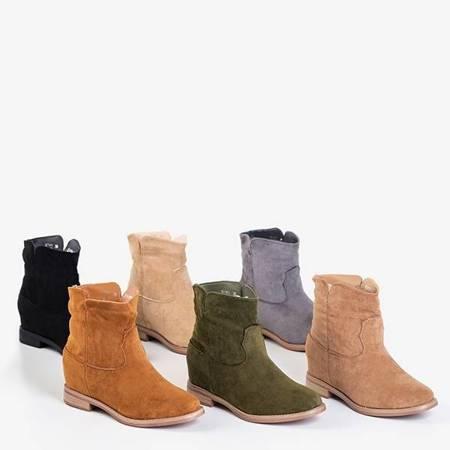 Темно-зелені черевики з ковбойськими черевиками на закритому клині Terband - Взуття