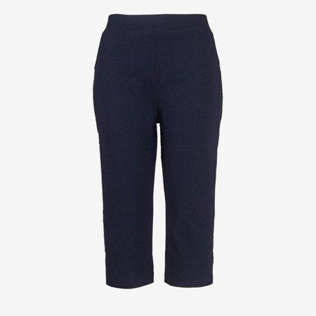 Темно-сині короткі гетри з смужками - Штани 1