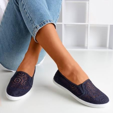 Темно-сині мереживні кросівки Izmailla - Взуття