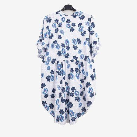Туніка з малюнком для жінок у білому кольорі - Блузки 1