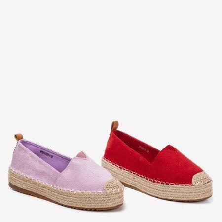 Фіолетові еспадрилі на платформі Umox - Взуття 1