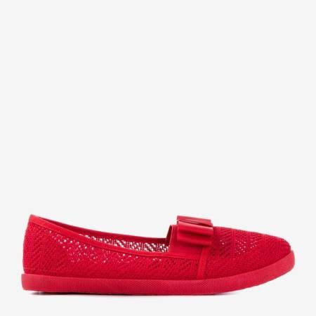 Червоні ажурні кросівки з бантом Nadin - Взуття