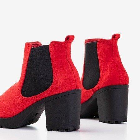 Червоні жіночі ботильйони на пості Умберто - Взуття