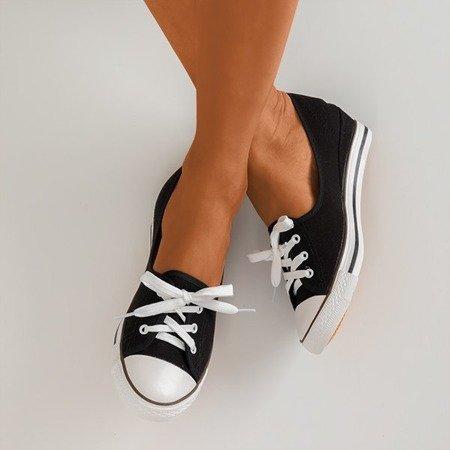 Черевики чорного взуття a'la на клині Anplus - Взуття 1