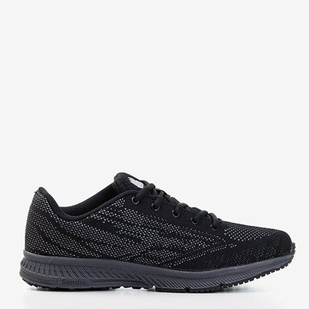 Чоловічі тренажери чорного кольору з сірою обробкою Erol - Взуття