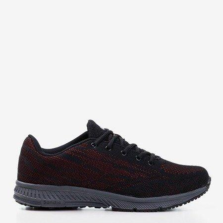 Чоловічі чорні кросівки з червоною обробкою Erol - Взуття