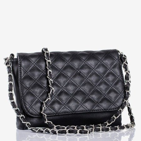 Чорна стьобана невелика наплічна сумка - Сумочки