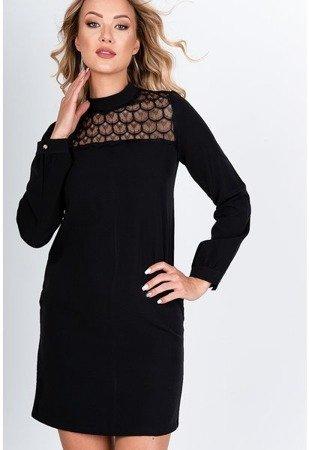 Чорне міні плаття з мереживом - Одяг