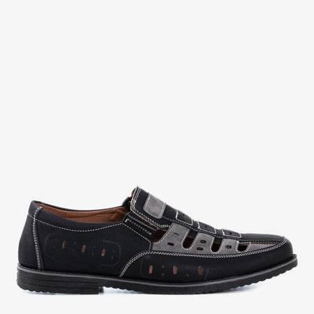 Чорне та сіре чоловіче взуття Lenni - Взуття