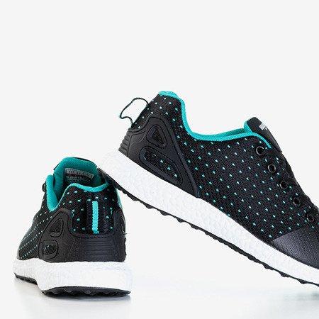 Чорне чоловіче взуття із м'ятними вставками Arber - Взуття