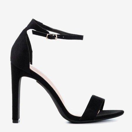 Чорні босоніжки на верхній штанині Rukola - Взуття 1