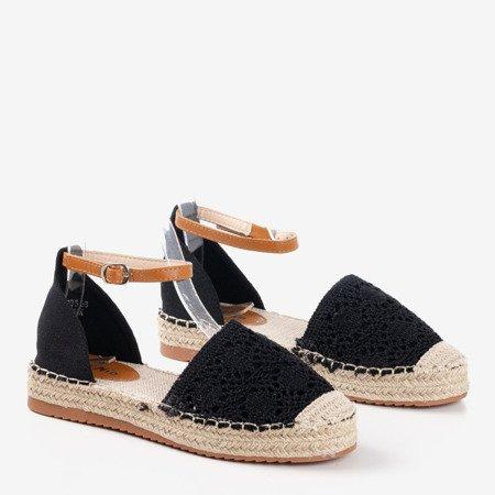 Чорні еспадрилі з ажурними верхами Asti - Взуття