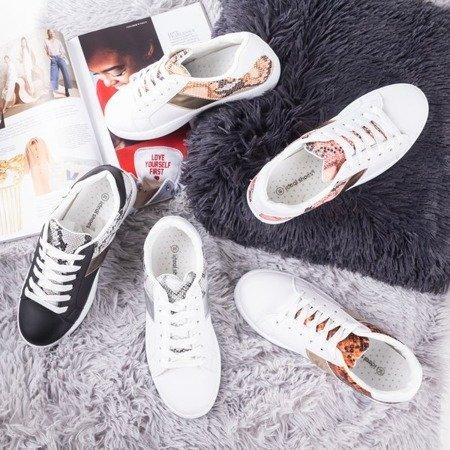 Чорні жіночі кросівки з тваринним тисненням Clastie - Взуття