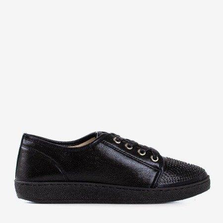 Чорні жіночі кросівки з фіанітами Sofitessa - Взуття