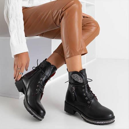 Чорні жіночі черевики з еко-шкіри Exione - Взуття
