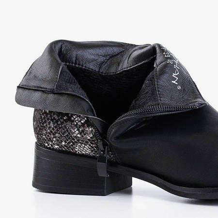 Чорні жіночі черевики на плоских підборах Fireli - Взуття