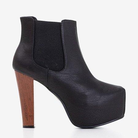 Чорні жіночі чорні чоботи на високій посаді Roxanne - Взуття
