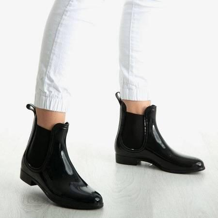 Чорні лакові чоботи з дощу Street Rainy - Взуття 1