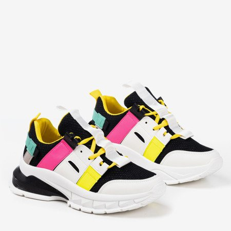 Чорні спортивні кросівки з різнокольоровими вставками Ida - Взуття 1