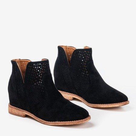 Чорні черевики на критому каблуці, ковбойські чоботи Besis - Взуття 1