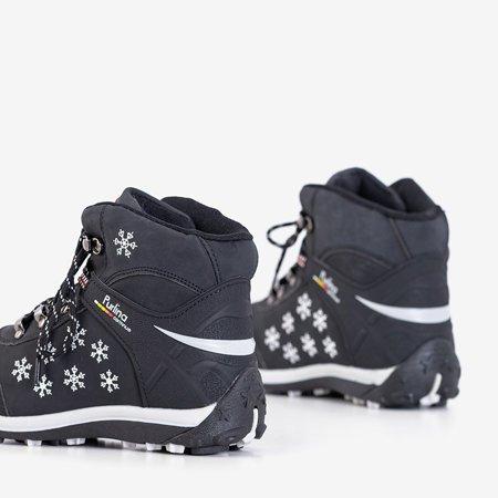 Чорні жіночі черевики зі сніжинками Flakes - Взуття