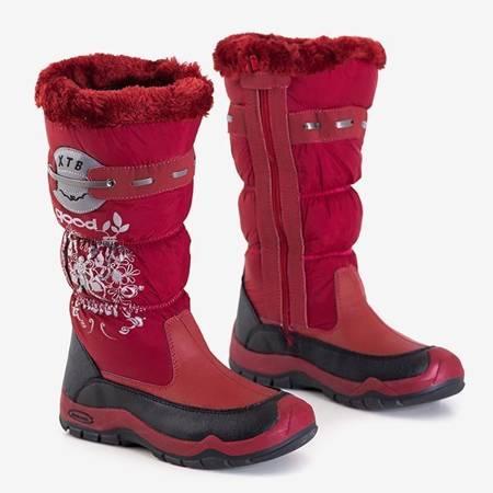 OUTLET Iana дитячі темно-бордові снігові черевики - Взуття