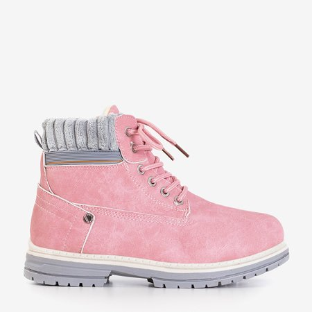 Рожеві жіночі утеплені черевики Magiten - Взуття