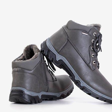 Темно-сірі чоловічі черевики-трапери Huraw - взуття